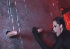 A thief wearing a leather nubile films jacket fighting with an Asian woman.